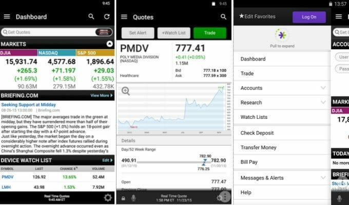 E*TRADE on Android