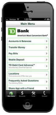 TD bank mobile app