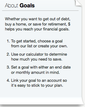 about goals in mint