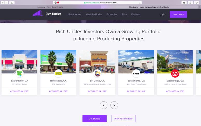 Rich Uncles' Portfolio