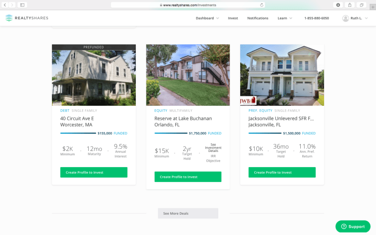 RealtyShares Options
