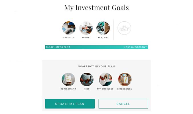 Ellevest - Investment Goals