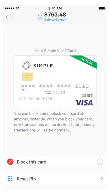 Simple - Account Card