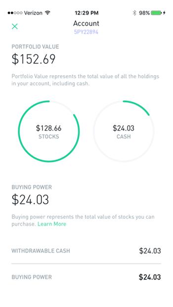 Robinhood - Stocks Cash