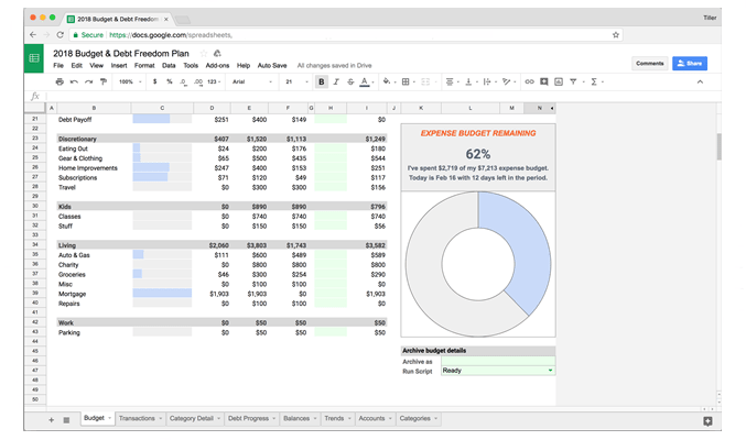 Tiller Money Review 2019 | Automated Spreadsheets | Investor