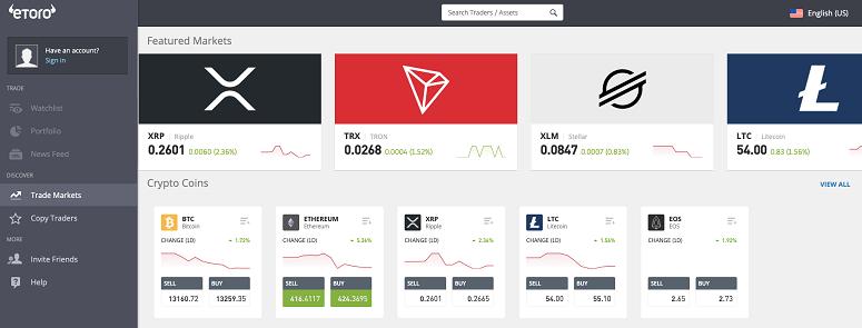 eToro Desktop Platform